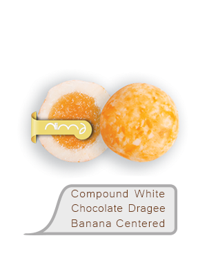 Compound White Chocolate Dragee Banana Centered