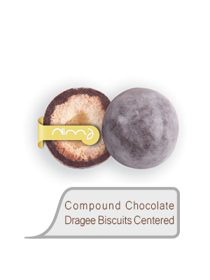 Compound Chocolate Dragee Biscuits Centered