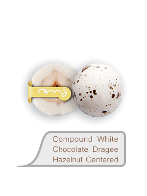 Compound White Chocolate Dragee Hazelnut Centered