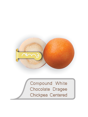 Compound White Chocolate Dragee Chickpea Centered
