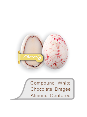 Compound White Chocolate Dragee Almond Centered