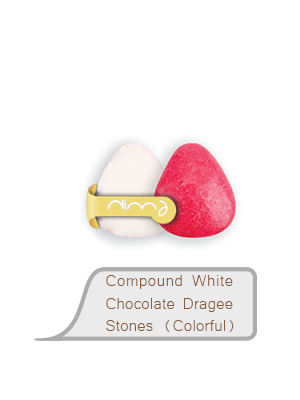 Compound White Chocolate Dragee Stones (Colorful)
