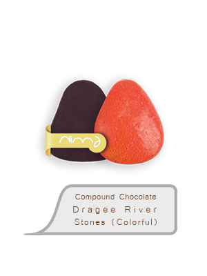Compound Chocolate Dragee River Stones (Colorful)