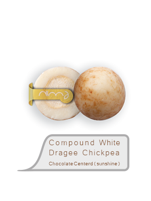 Compound  White Dragee  Chickpea Chocolate Centerd (sunshine)
